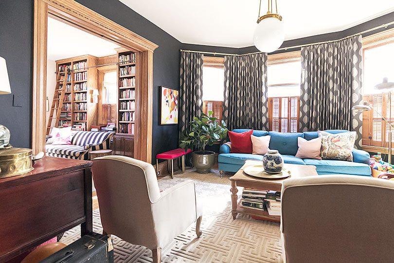 Living Room and Home Library Double Parlor | Making it Lovely
