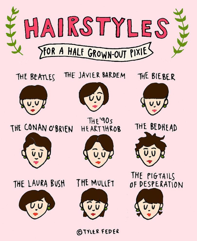 Hairstyles for a Half Grown-Out Pixie   Tyler Feder