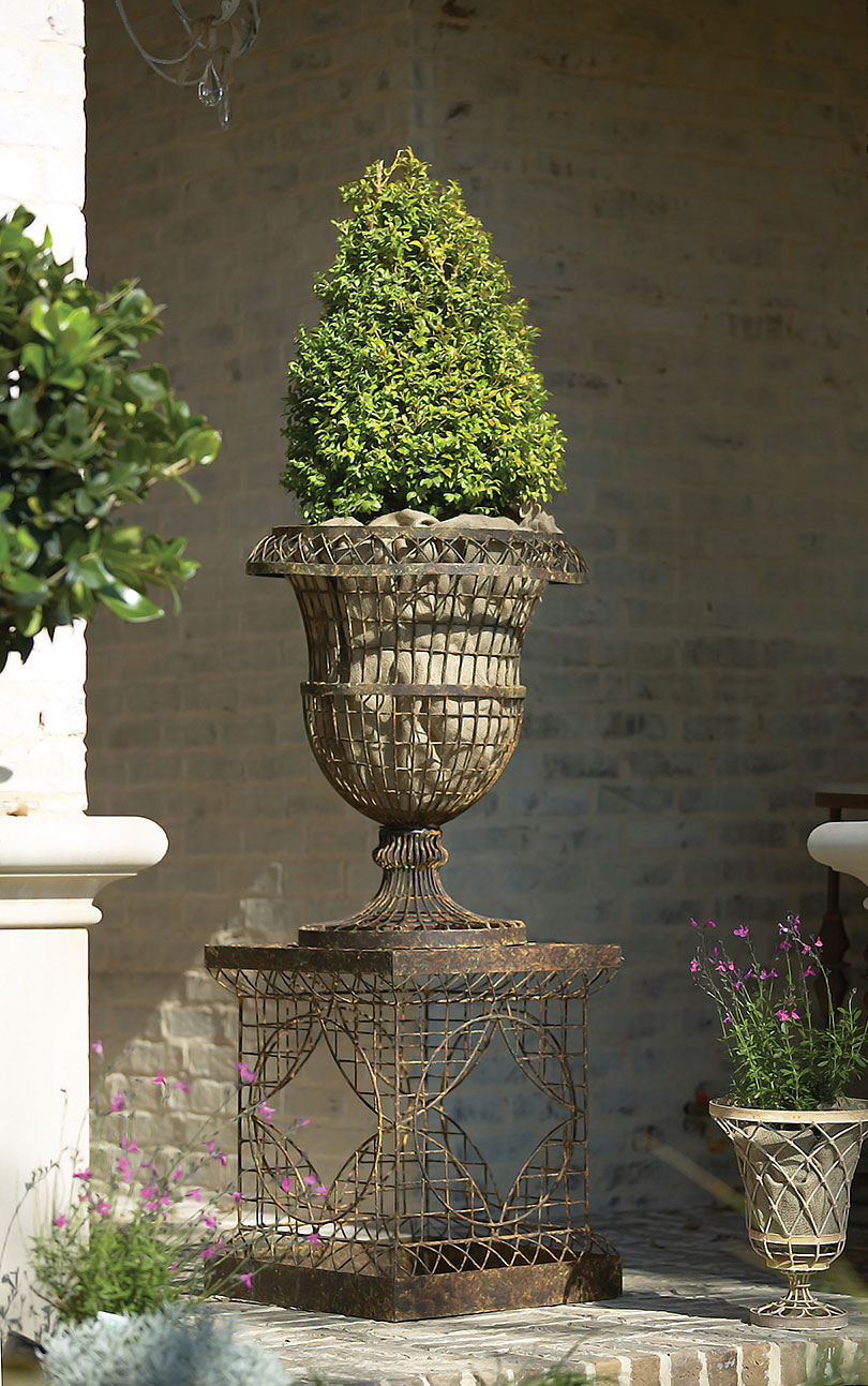 French-Inspired Wire Urn Planter