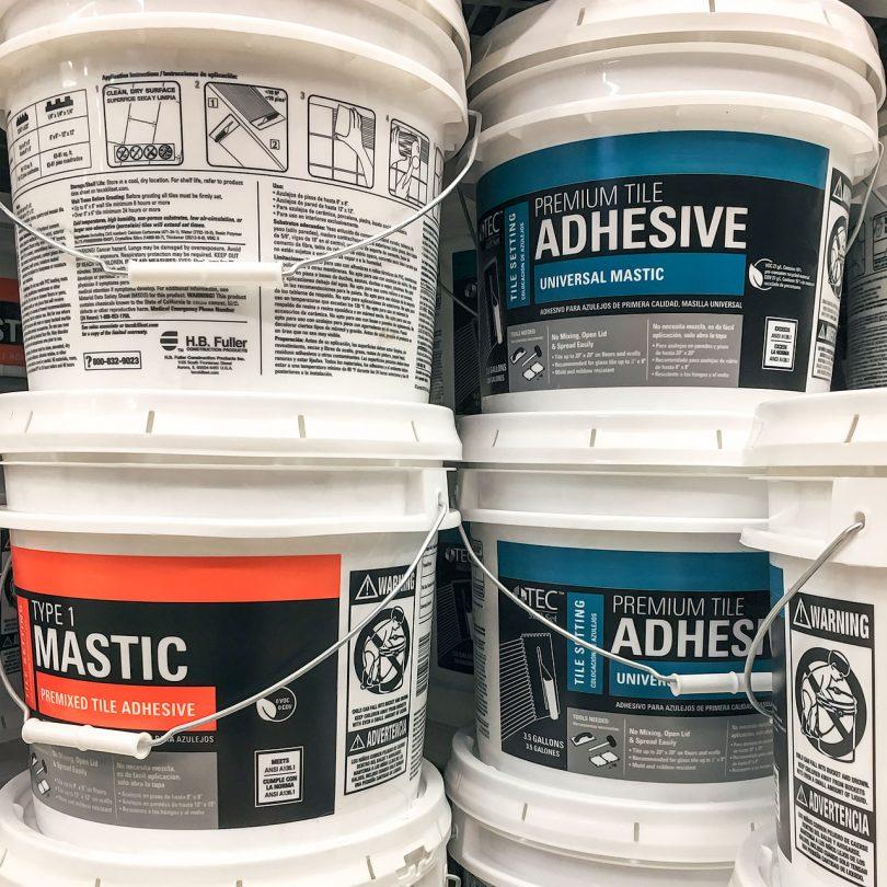 Mastic and Premixed Tile Adhesive