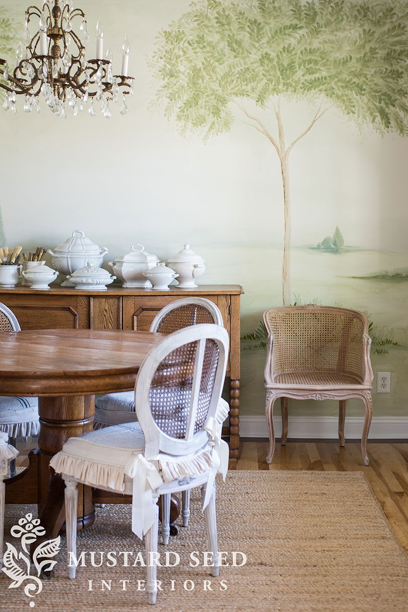 Miss Mustard Seed Hand-Painted Landscape Mural
