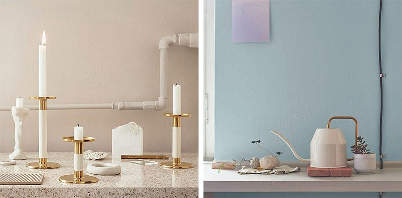 IKEA Glittrig candlesticks and Vattenkrasse watering can