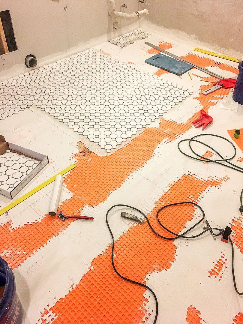 DIY Tile Installation Begins!