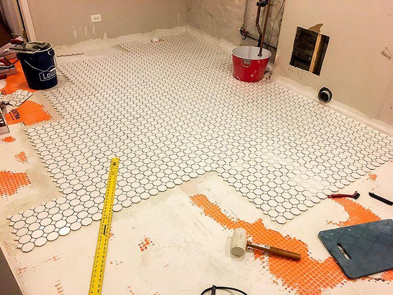 DIY Tile Installation, Day 2