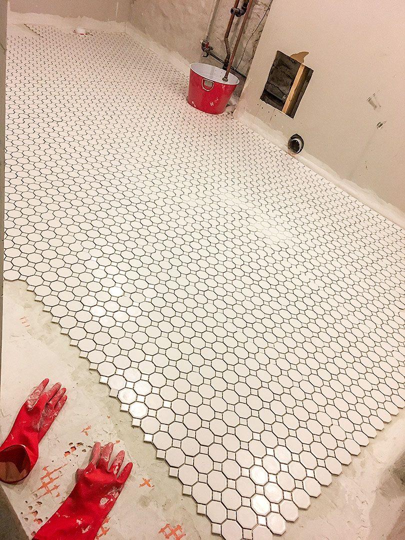 DIY Tile Installation, End of Day 2