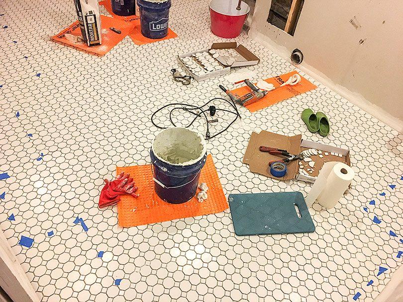 DIY Tile Installation, End of Day 3