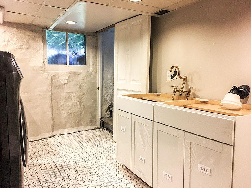 Laundry Room Foundation Wall