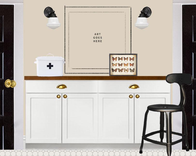 Laundry Elevation: Cabinets (Photoshop)
