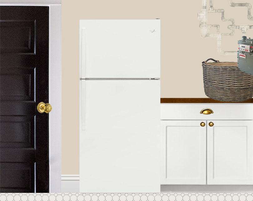 Laundry Elevation: Fridge (Photoshop)