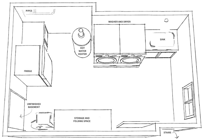 Laundry room mockups and floor plan jessica baker blog - Laundry room floor plans ...
