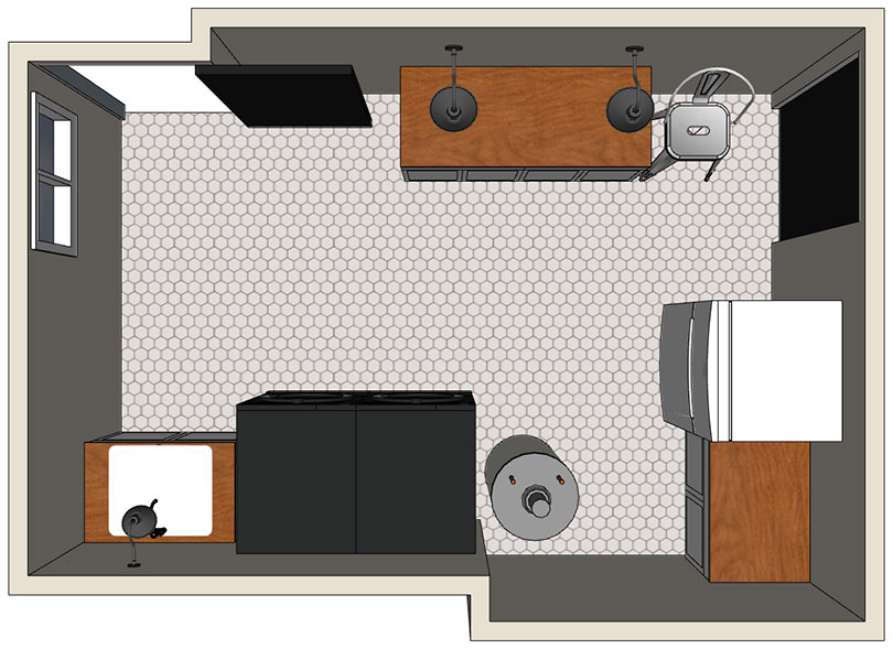 Laundry Room SketchUp Plan