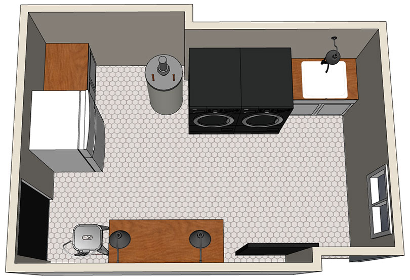 Laundry Room SketchUp Plan 2