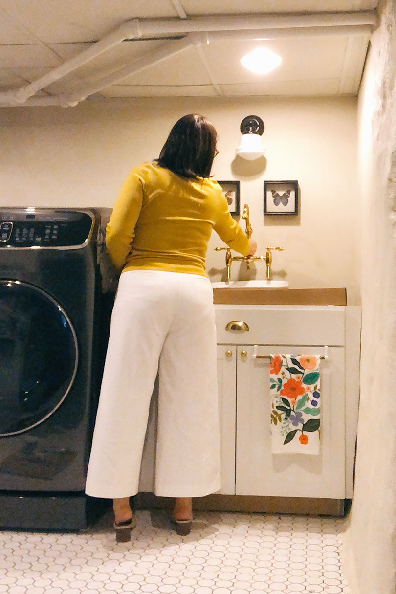 Nicole (Making it Lovely) in the Laundry Room