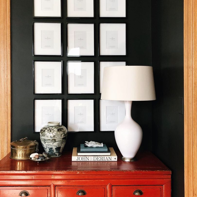 Black Lacquer Frames from Williams Sonoma Home