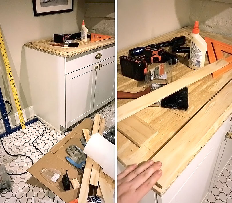 How to Make DIY Plywood Countertops