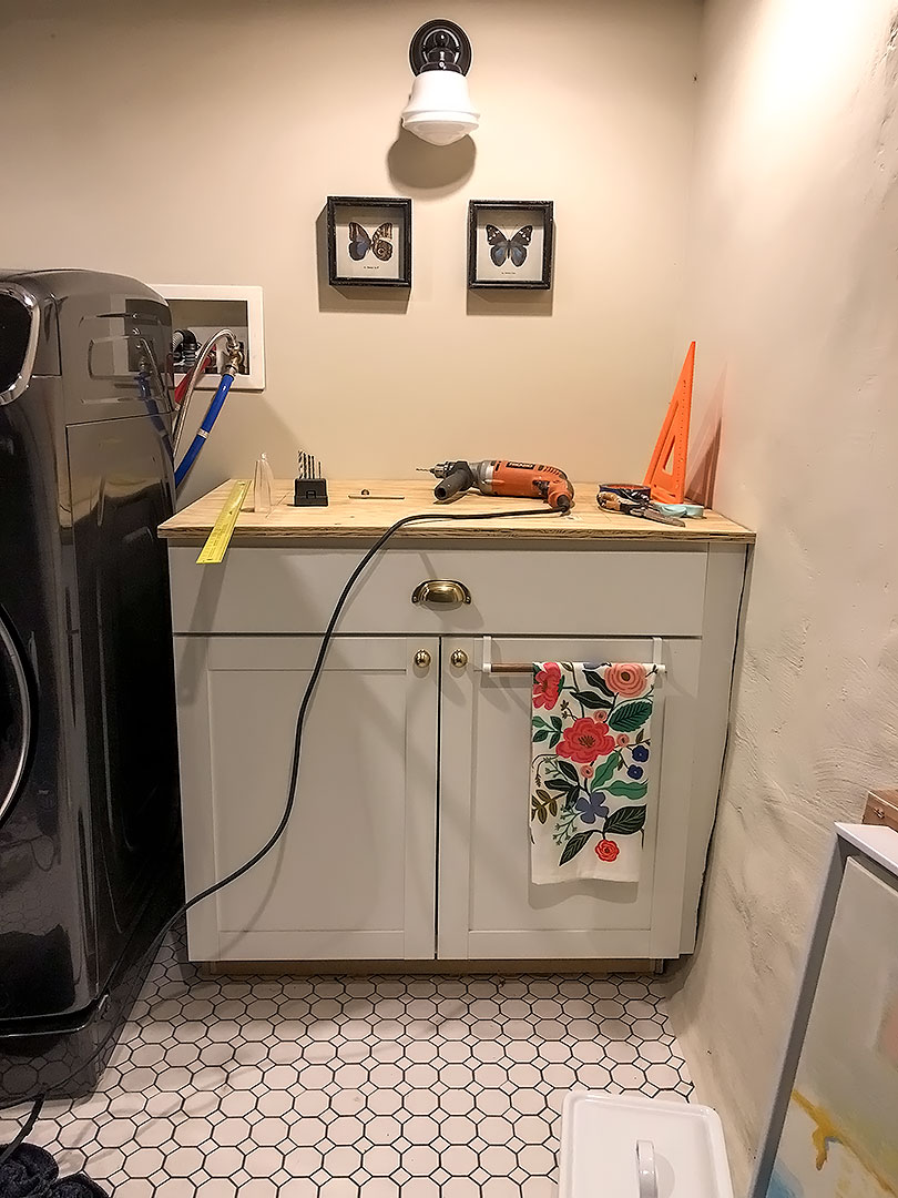 Plywood for Countertops in the Laundry Room
