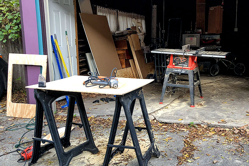 Cutting Plywood for DIY Wooden Countertops