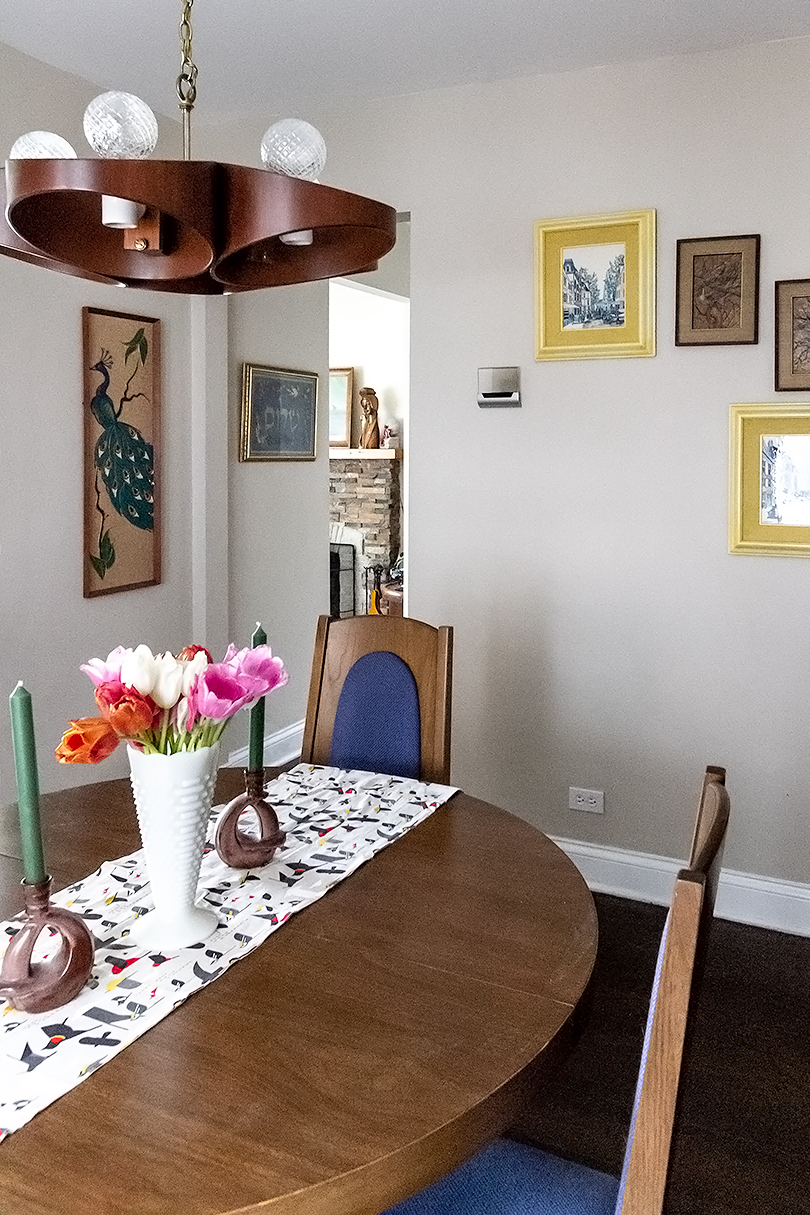 Cute Retro Dining Room with Upgraded Smart Thermostat by GLAS