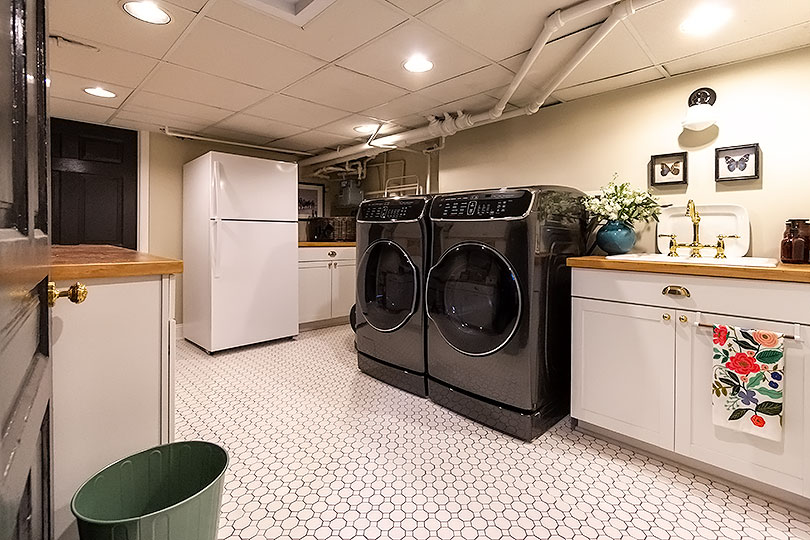 Our Basement Laundry Room Makeover Making It Lovely