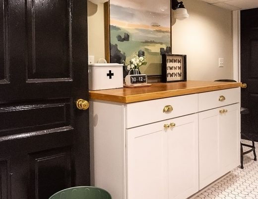 Storage Cabinets and Folding Laundry Space