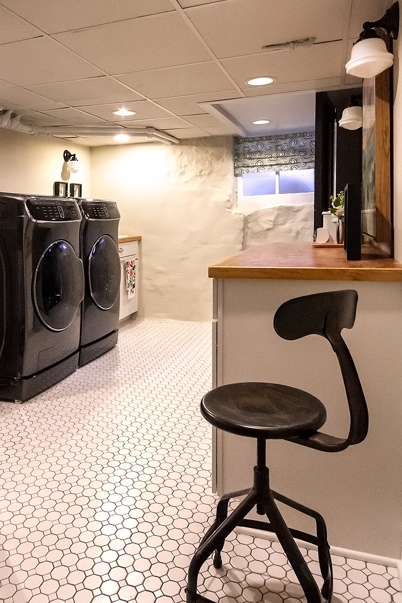 Basement Laundry Renovation | Lowe's and Making it Lovely
