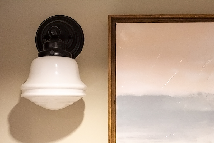 Cute Sconce from Lowe's