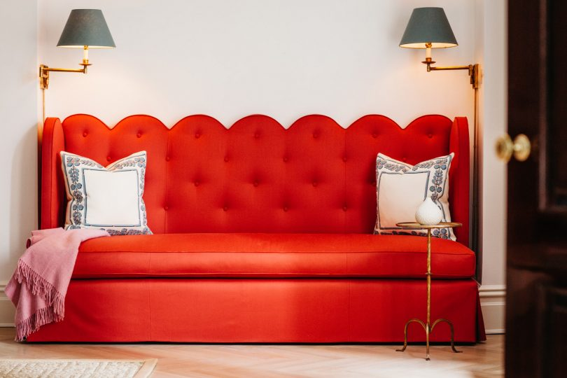Red Scallop Seating, Lindsey Lane Design, Park Avenue Project
