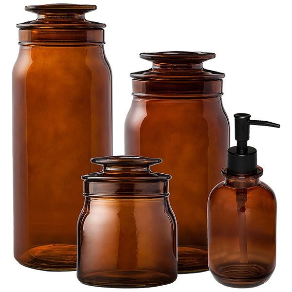 Amber Apothecary Jars Making It Lovely
