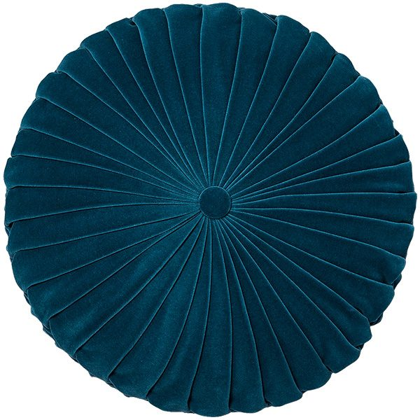 Pleated Teal Velvet Round Throw Pillow - Opalhouse, Target