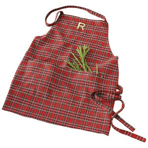 Suzanne Kasler Holiday Plaid Apron, Ballard Designs