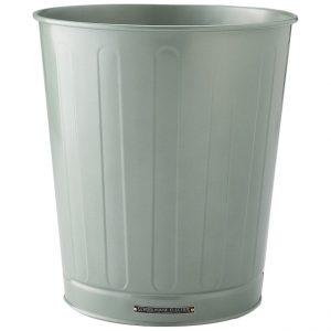 Spruce Green Steel Waste Basket, Schoolhouse Electric