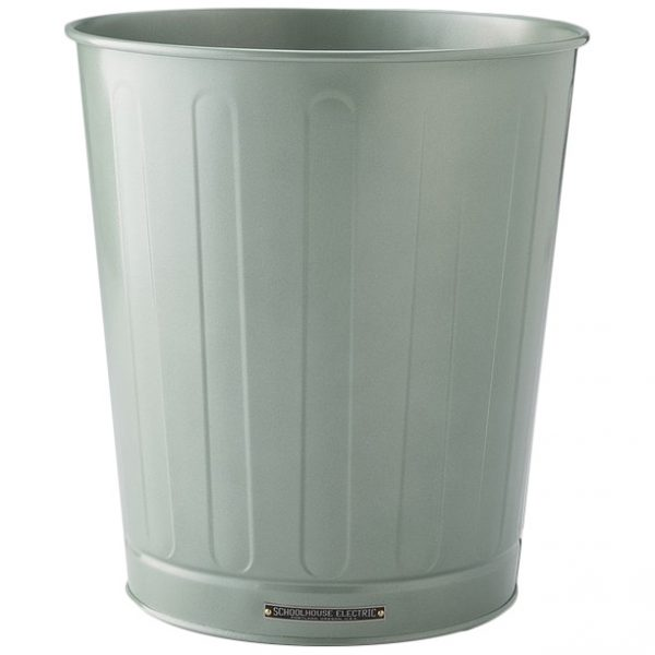 Spruce Green Steel Waste Basket, Schoolhouse Electric