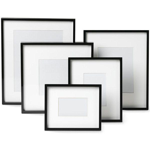 Black Lacquer Gallery Picture Frames, Williams-Sonoma
