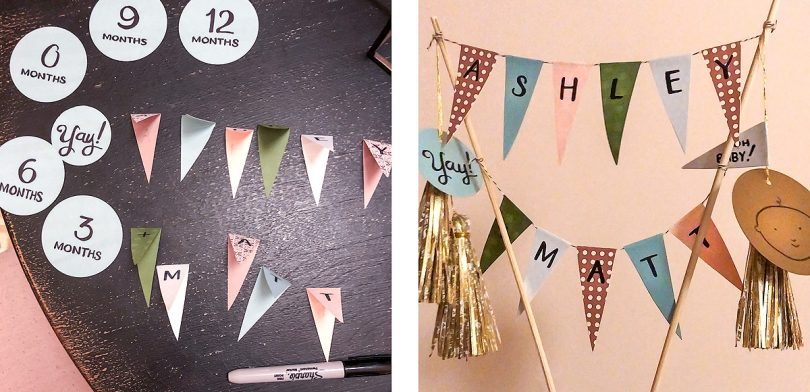 DIY Handmade Cake Topper Bunting for Baby Shower | Making it Lovely