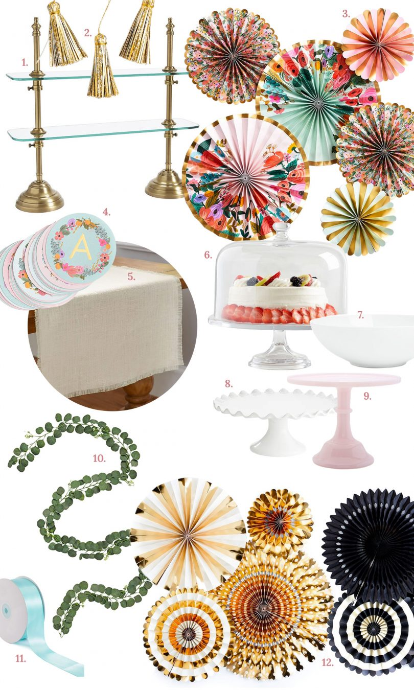 Entertaining Essentials for a Party or Baby/Bridal Shower | Making it Lovely