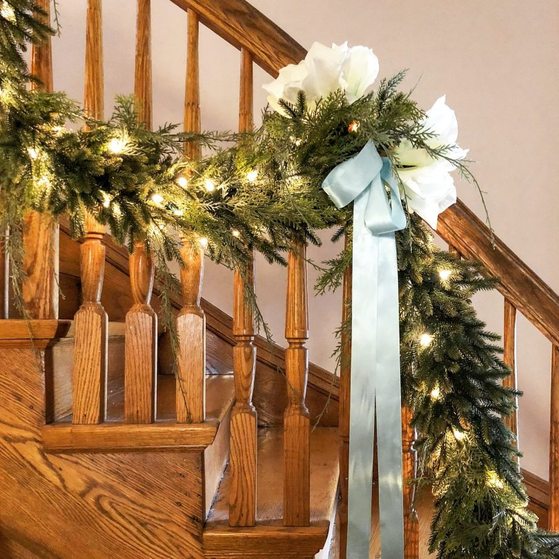 Christmas Garland, Doubling as Winter Baby Shower Decor