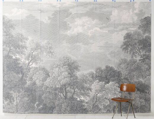 Etched Arcadia Wallpaper Mural, Anthropologie