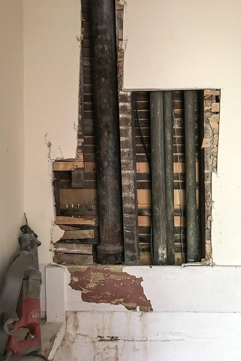 Plumbing Repairs - Replacing the Cast Iron Stack