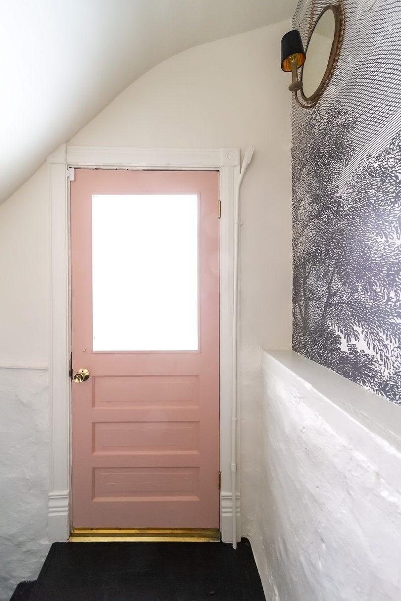 Pink Painted Back Door