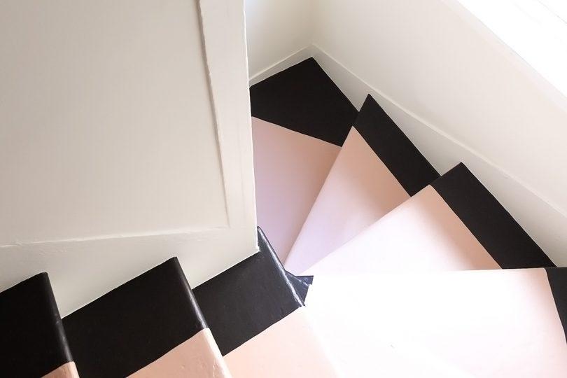 Pink Painted Stair Runner