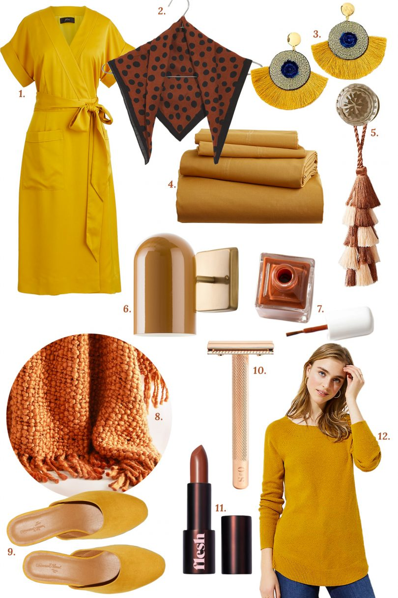 Mustard, Copper, and Toffee