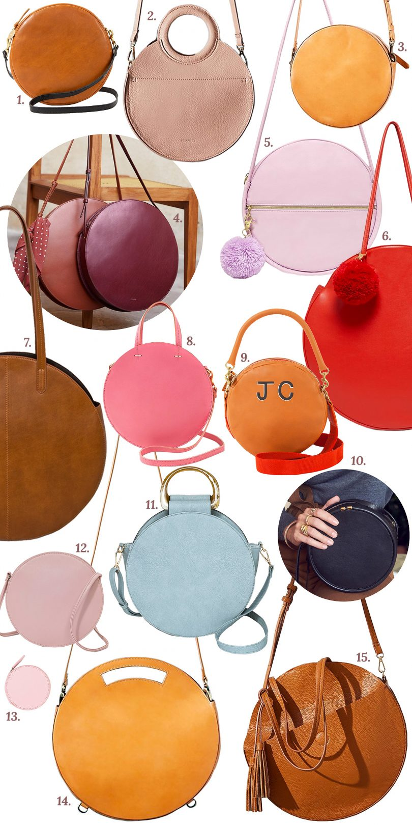 15 On Trend Circle Bags | Making it Lovely
