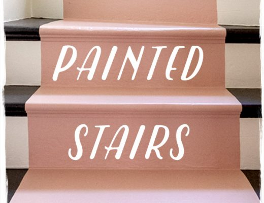 Painted Stairs, Antiquated Lace, Fruity Pink, Authentic Black, Dutch Boy