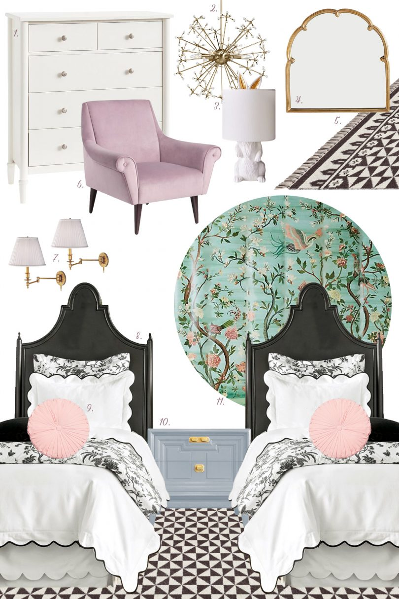 Tween Girls' Bedroom with Two Twin Beds   Making it Lovely