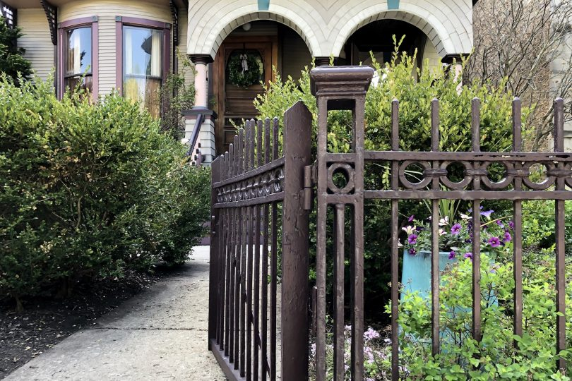 Victorian with Wrought Iron Fence