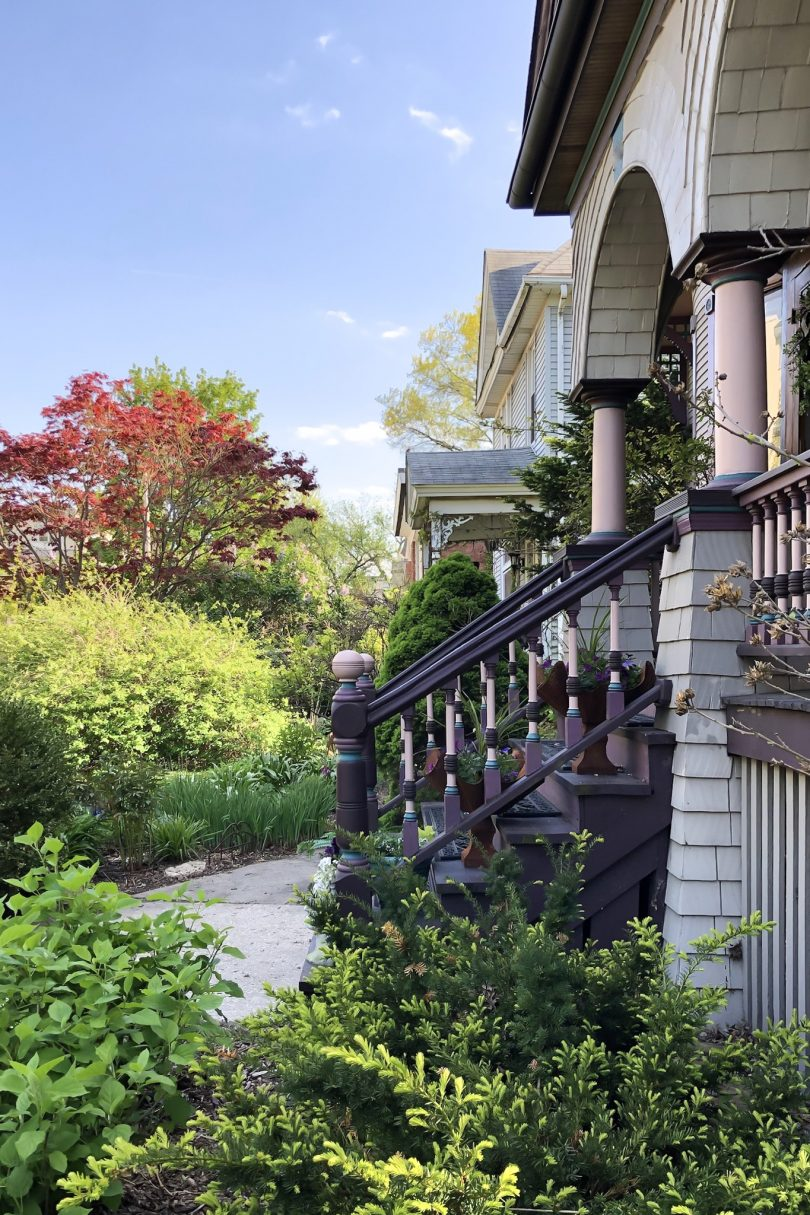 Victorian House with Front Yard Garden
