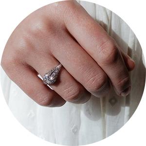 Vintage Diamond Edwardian Engagement Ring from Erstwhile