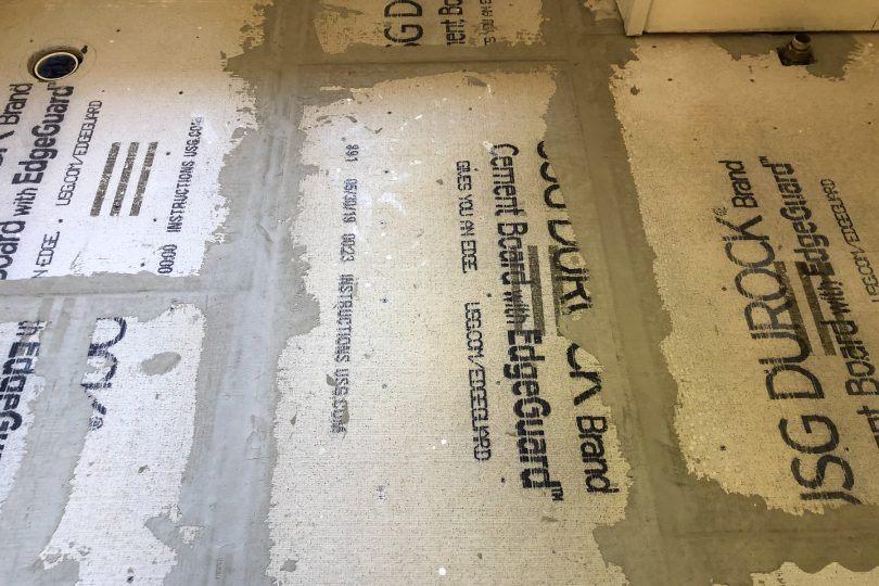 DUROCK Cement Backer Board with Taped Seams