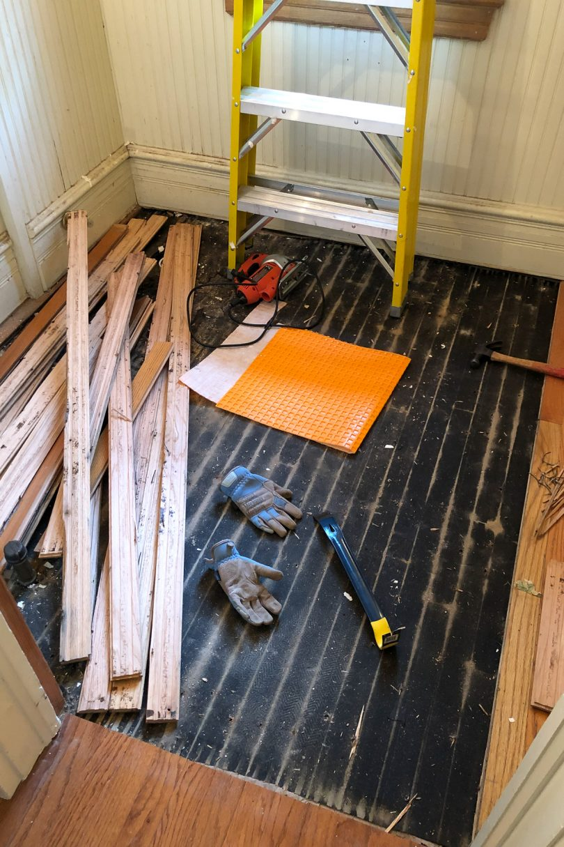 Hardwood Flooring Being Removed | Making it Lovely