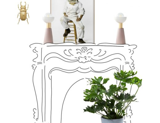 Sketch - Marble Fireplace Styling
